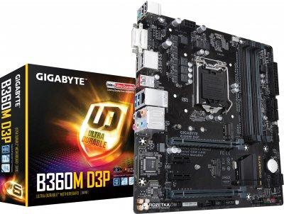 Материнская плата Gigabyte B360M D3P (s1151, Intel B360, PCI-Ex16)