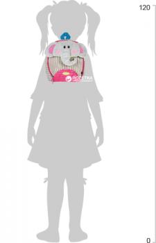 Рюкзак дошкільний Cool For School Pink Elephant 25х20х11 см 1 л (CF86118)