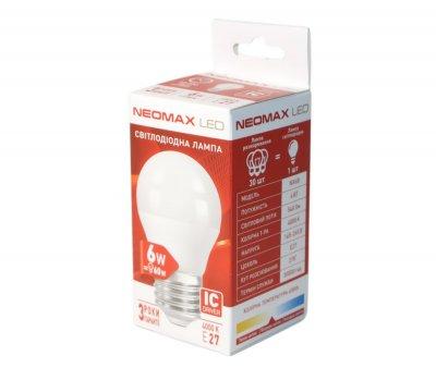 Лампа світлодіодна Neomax E27 6W 4000K G45 320 Лм 220V (6B-4)