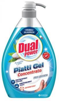 Концентрированный гель для мытья посуды Dual Power с дозатором Сода и шалфей 1 л (8032680399398)