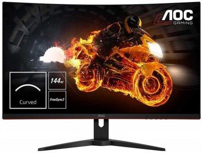 Монітор AOC 31.5 CQ32G1 VA Black Curved; 2560х1440 (144 Гц), 300 кд/м2, 1 мс, DisplayPort, 2хHDMI