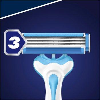 Одноразовые станки для бритья (Бритвы) мужские Gillette Blue 3 Cool 3 шт (7702018457243)
