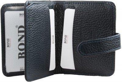 Мужская кредитница кожаная Bond SHI551-1170 Синяя (2900000132771)