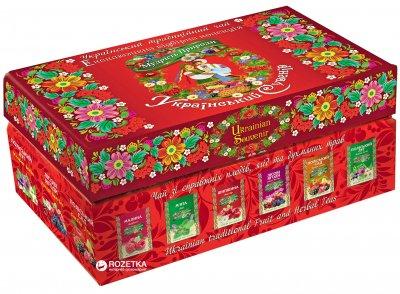 Набор чая в пакетиках Мудрость Природы Украинский сувенир 6 видов по 12 шт 132 г (4820167090562)