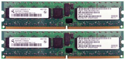 Оперативна пам'ять Sun Sun Microsystems DDR2-RAM 2x1GB PC2-4200R ECC 1R (370-6208) Refurbished