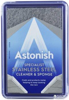 Специализированное средство для очистки и полировки изделий из нержавеющей стали Astonish с губкой 250 г (5060060211001)