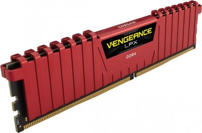 Оперативна пам'ять Corsair 32 GB (4x8GB) DDR4 3000 MHz VENGEANCE LPX (CMK32GX4M4C3000C15R)