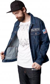 Джинсовая куртка Patch Dark Blue KDJP-0104 Синяя