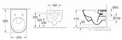 Унітаз підвісний VILLEROY&BOCH Verity Design 5643HR01 зі сидінням Soft Close QuickRelease 9M55S901