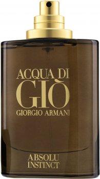 Тестер Парфюмированная вода для мужчин Giorgio Armani Acqua Di Gio Absolu Instinct 75 мл (3614272436497)