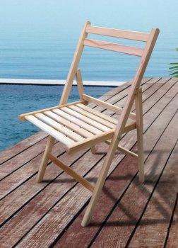 Стул для сада складной деревянный Пикник Микс Мебель Натуральный