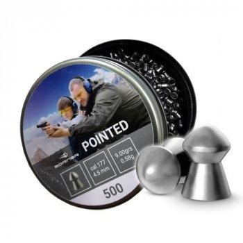 Свинцовые пули Borner Pointed 0.58 g 500 шт для охоты 4.5 мм