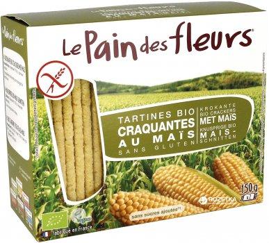 Органические хрустящие хлебцы Le Pain des Fleurs из кукурузы 150 г (3380380077296)