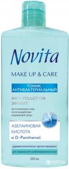 Тоник антибактериальный Novita Make up & Care 200 мл (5900116041223)