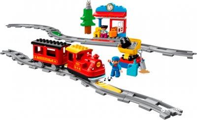 Конструктор LEGO DUPLO Town Поезд на паровой тяге 59 деталей (10874) (5702016117264)