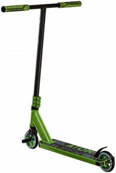 Трюковий самокат Maraton Project Original трюкової чорний зелений для фрістайлу 1284