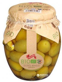 Зеленые оливки Diva Oliva Gold с косточкой Био 370 мл (5060235653193)