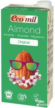 Органическое растительное молоко Ecomil Миндальное с сиропом агавы без сахара 1 л (8428532230016)
