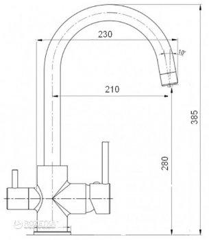 Кухонний змішувач з підключенням до фільтру GLOBUS LUX GLLR-0333 ONIX