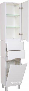 Пенал AQUA RODOS Венеция 40 см правый напольный с корзиной для белья белый