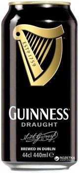 Пиво Guinness Draught темное фильтрованное 4.1% 0.44 л (5000213101872G)