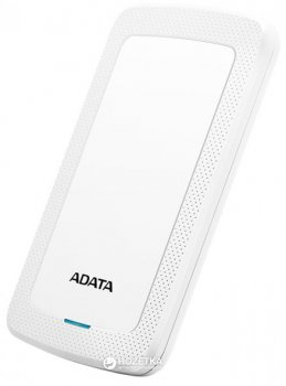 Жорсткий диск ADATA DashDrive HV300 2TB AHV300-2TU31-CWH 2.5 USB 3.1 External Slim White