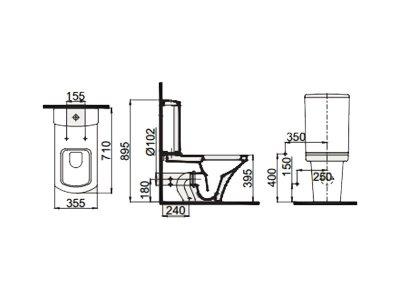 Чаша унитаза IDEVIT Vega (2804-0306)