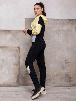 Спортивний костюм ISSA PLUS SA-112 Чорний з жовтим