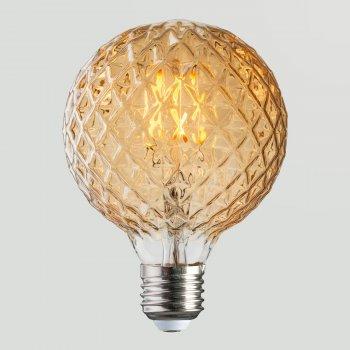 Лампа світлодіодна Horoz Electric Filament Rustic Twist-4 4 Вт 360 Лм 2200К Е27 (001-038-0004)