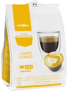 Кава в капсулах Gimoka Caffe Lungo 16 шт. (8003012005485)