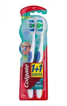 Colgate 360° Whole Mouth Clean зубні щіточки soft 2 шт