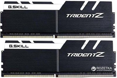 Оперативная память G.Skill DDR4-3200 16384MB PC4-25600 (Kit of 2x8192) Trident Z White (F4-3200C16D-16GTZKW)