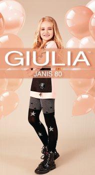 Колготки Giulia Janis (4) 80 Den 104-110 см Dark Grey Melange (4823102965536)