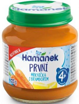 Упаковка пюре Hamanek з моркви та картоплі 125 г х 8 шт. (8595139797416)