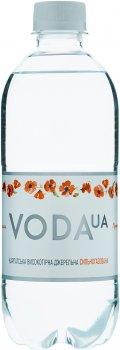 Упаковка воды питьевой газированной VodaUA Карпатская высокогорная родниковая 0.5 л х 12 бутылок (4820227100279)