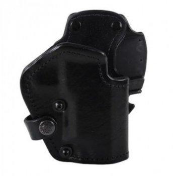 Кобура Front Line открытая, поясная, кожа, для Glock 21, 20 ц:черный