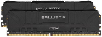 Оперативна пам'ять Crucial DDR4-2666 16384MB PC4-21300 (Kit of 2x8192) Ballistix Black (BL2K8G26C16U4B)