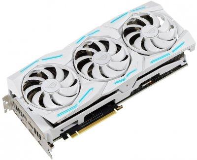 Asus PCI-Ex GeForce RTX 2080 Super ROG Strix White Gaming ОС 8GB GDDR6 (256bit)(1650/15500)(USB Type-C, HDMI, DisplayPort)(ROG-STRIX-RTX2080S-O8G-WHITE-GAMING)