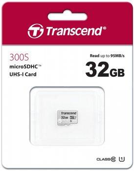 Transcend MicroSDHC 300S 32GB Class 10 UHS-I U1 no adapter (TS32GUSD300S)