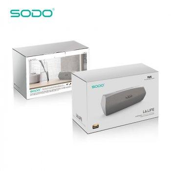 Бездротова Bluetooth колонка SODO L6-LIFE JKR | Оригінал | Гарантія, срібло