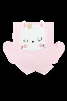 Колготки памперсні з котиком Дюна 80-86 розмір світло-рожеві з білим 4923
