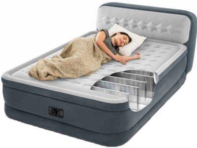Велюр кровать Intex Ultra Plush Headboard 64448 152х236 см (152374)