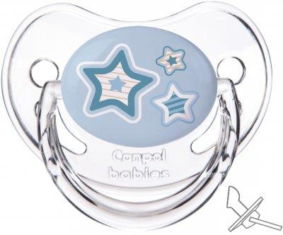 Пустушка Canpol Babies силіконова анатомічна 6-18 місяців Newborn baby (22/566_blu)