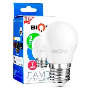 Світлодіодна лампа BIOM BT-564 G45 7W E27 4500K (Куля)