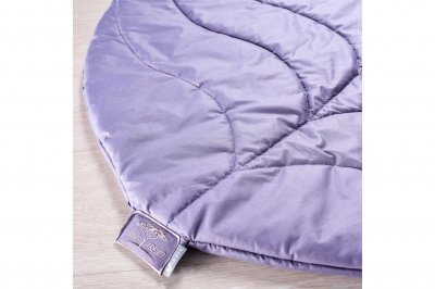 Килимок під ноги з декоративною подушкою IDEIA в дитячу кімнату або спальню Листочок Ліловий (0010)