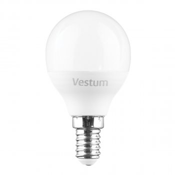 Світлодіодна лампа Vestum LED G45 6W 4100K 220V E14 (149129)