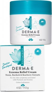 Крем для облегчения симптомов экземы Derma E Eczema Relief с экстрактами дерева ним, лопуха и толокнянки 113 г (030985087000)