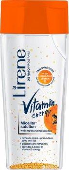 Міцелярна рідина для очищення обличчя Lirene Енергія вітамінів з вітаміном Е 200 мл (5900717715417)