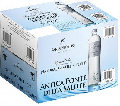 Упаковка минеральной негазированной воды San Benedetto AFS 0.65 л х 15 бутылок (8001620016312)