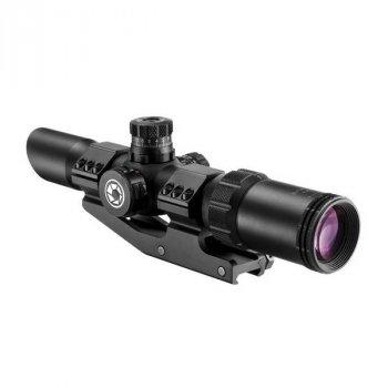 Приціл оптичний Barska SWAT-AR Tactical 1-4x28 (IR Mil-Dot R/G) + mount